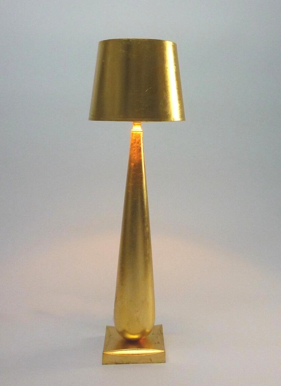 Design-Leuchte mit Blattgold – Unikat
