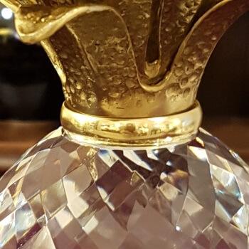Kristallannanas mit Bronzeblaettern