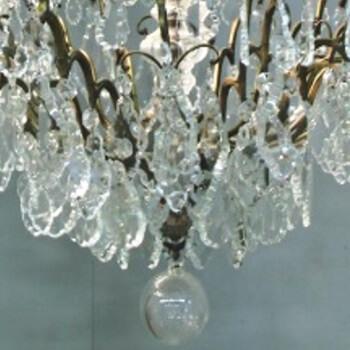 Kronleuchter Bronze-Kristallglas
