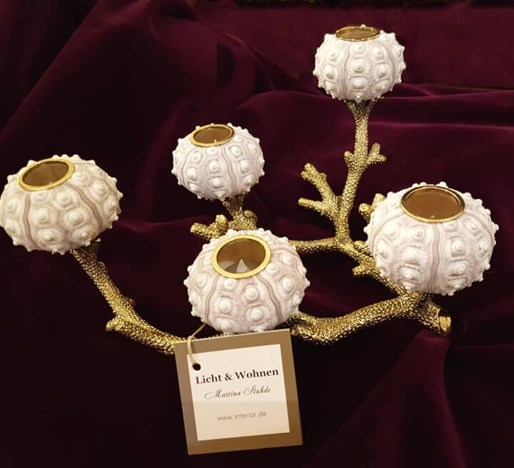 Muschel-Bronze-Kerzenleuchter