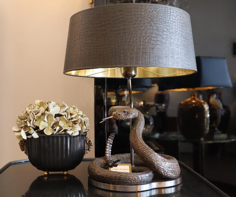 Bronzeschlangen-Leuchte
