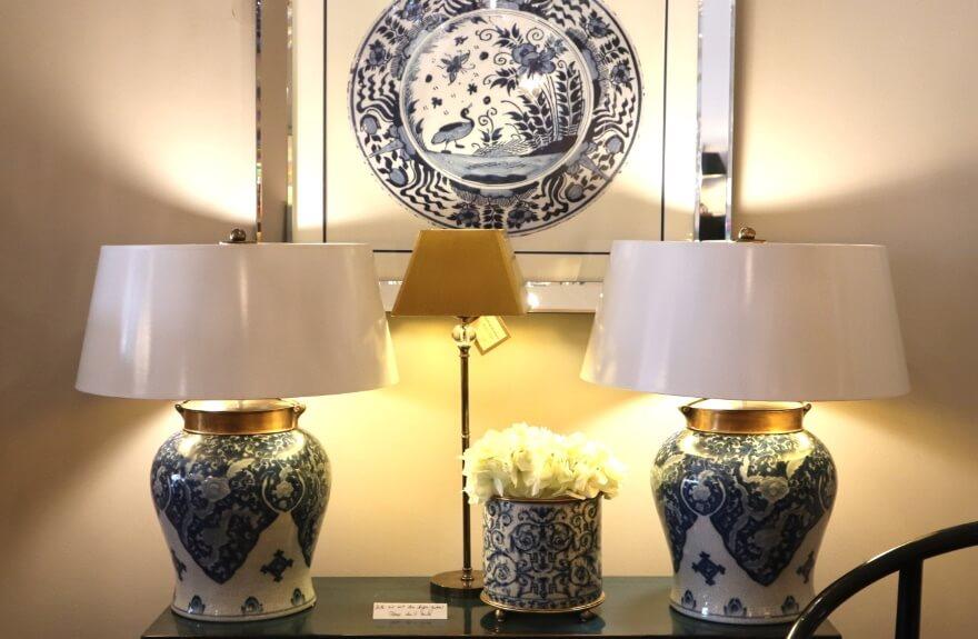 China-Jar-Leuchte mit Bronzedeckel und Tellerbild